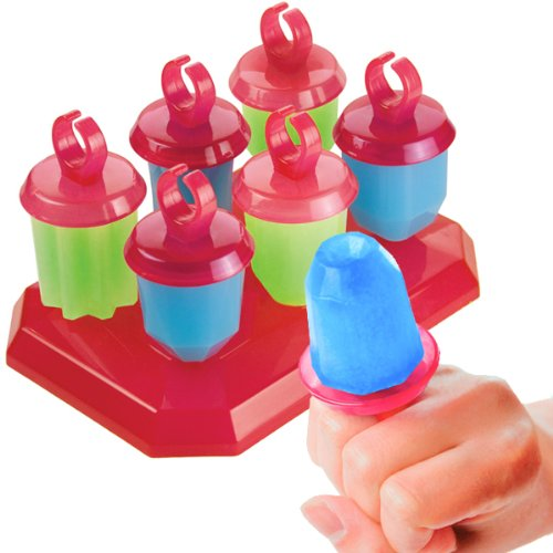 Tovolo Jewel Pop Ring Shape Molds, Drip Guard, Anti-Tip Base, 1.25 Fluid Ounces - Set of 6