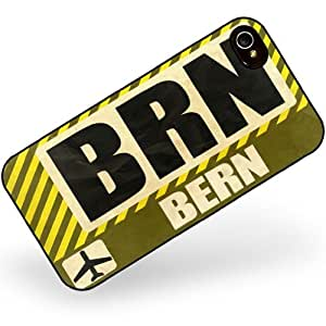 Rubber Case for iphone 4 4s Airportcode BRN Bern - Neonblond