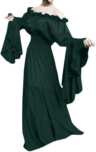 Mujeres Vintage Vestido Medieval Renacentista JORICH Vestido Largo ...