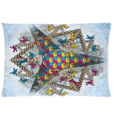Escher como monos por con cremallera fundas de almohada 20 x ...