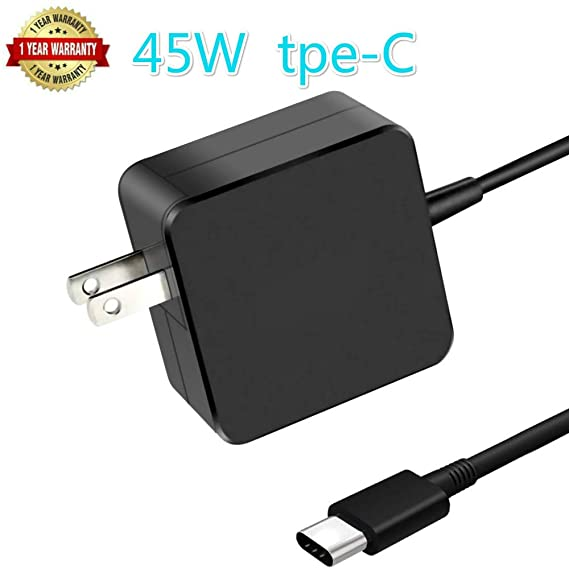 New New Genuine Slim 45W USB C Charger AC Adapter Compatible with Lenovo Yoga 720 13