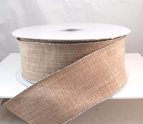 Wire Edged Value Linen Net Silver - Poly