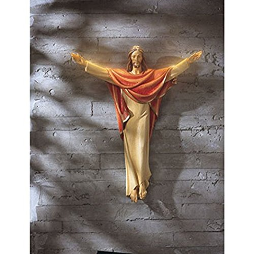 He is Risen 24 Inch Jesus Christ Hanging Wall Statue for Church Sanctuary (Church Statue)
