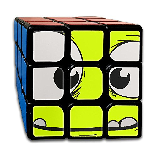Monster Face 3x3x3 Cube Puzzle, Speed Cube, The Best, Carbon Fiber Sticker Smooth Magic Cube (Halloween Costume Rubik's Cube)