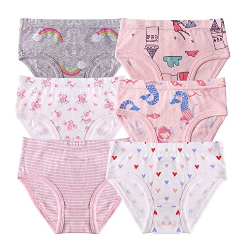 Seekay Girls Underwear Briefs, Organic Cotton, Tagless,5-6 Years by Seekay (Image #1)