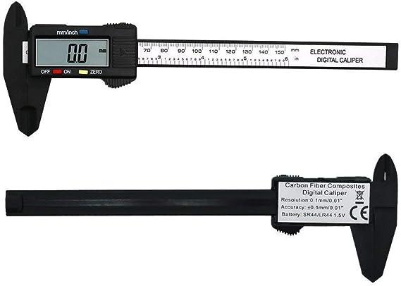 "Details about  /40X6/"" 150mm Carbin Fiber Electronic Digital Vernier Caliper Micrometer Guage LCD"