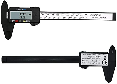 "New Digital Electronic Gauge Plastic Vernier Caliper 150mm 6/"" Micrometer"