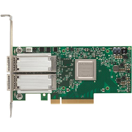 Mellanox Technologies MCX414A-GCAT CONNECTX-4 EN NETWORK INTERFACE CARD, 50GBE DUAL-PORT QSFP28, PCIE3.0 X8, TALL B by Mellanox Technologies