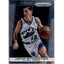 2013 /14 Panini Prizm Basketball Card # 201 John Stockton Utah Jazz
