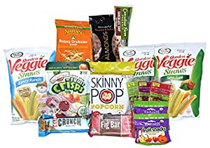 Non-GMO and Organic, Healthy, Natural Snack Care Package - Small (17 Items)