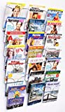 Literature Storage Racks, 21-Pocket Brochure Holders for 8.5 x 11 Magazines, Wall Mounted - Chrome Finish