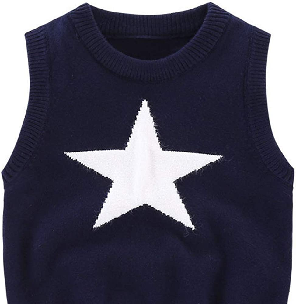 URMAGIC Baby Sleeveless Jumper Toddler Infant Kids Boys Girls Warm Knitted Vest Pullover Tank Top 1-6 Year Old