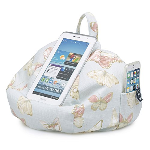 on iPad Angle Any iBeani Devices Holder Bean Cushion Blue Butterfly for Bag All Any Stand Surface amp; Hare Tablet O4nqx74d
