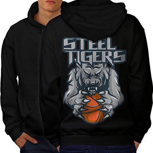 Steel Tigers Sport Basketball Men S Hoodie Back | Wellcoda (Evil Bunny Costume)