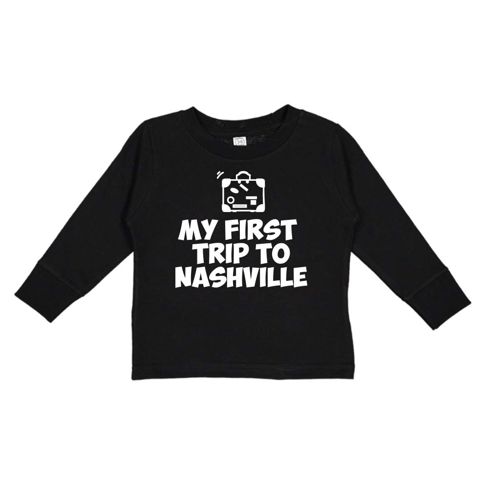 Toddler//Kids Long Sleeve T-Shirt Mashed Clothing My First Trip to Nashville