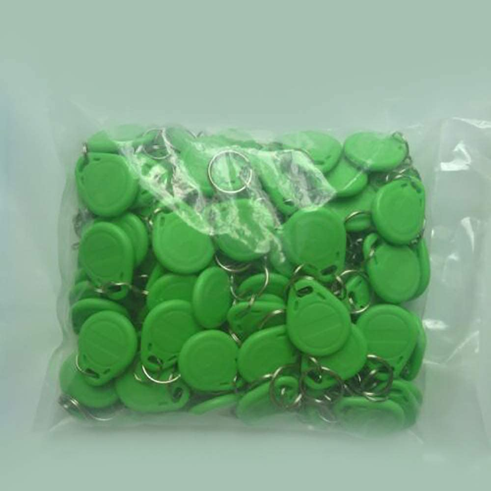 Green Refaxi 100pcs for NSEE RFID 125Khz Key Fob Tag Card Reader ID TK//EM 4100//4200//4305 Token