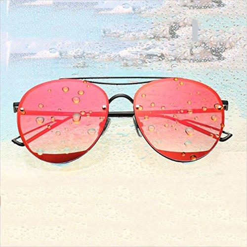 UVA mercury larga Gafas WLHW Silver UVB sol Black Personalidad frame Color frame polarizadas Corea red Cara orange Resina de Resplandor qX4xZg4Pw