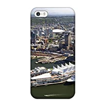Premium Durable Vancouver City Fashion Tpu Iphone 5/5s Protective Case Cover Sending Free Screen Protector