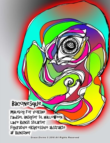 Baconesque malebog for voksne rædsel ansigter til halloween