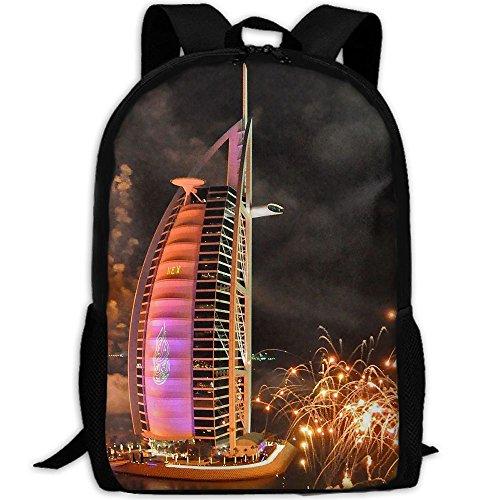 3D Unisex Backpack New Years Eve Celebration Art Lightweight Laptop Bags Shoulder Bag School Bookbag Daypacks