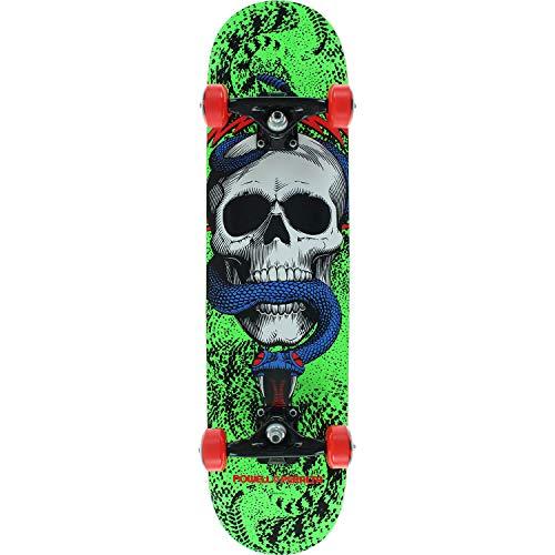 Blue Skull Skateboard - Powell-Peralta Skull & Snake Green/Black / Blue Mid Complete Skateboards - 7.62