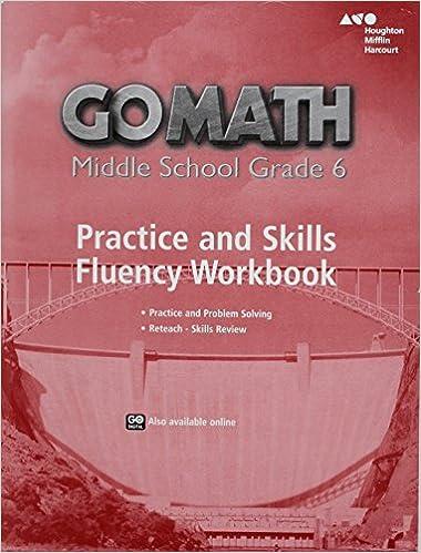 Go Math Practice Fluency Workbook Grade 6 HOUGHTON