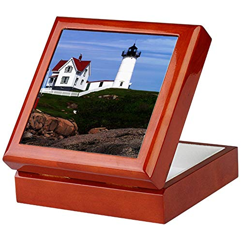(CafePress Nubble Print Keepsake Box, Finished Hardwood Jewelry Box, Velvet Lined Memento Box)