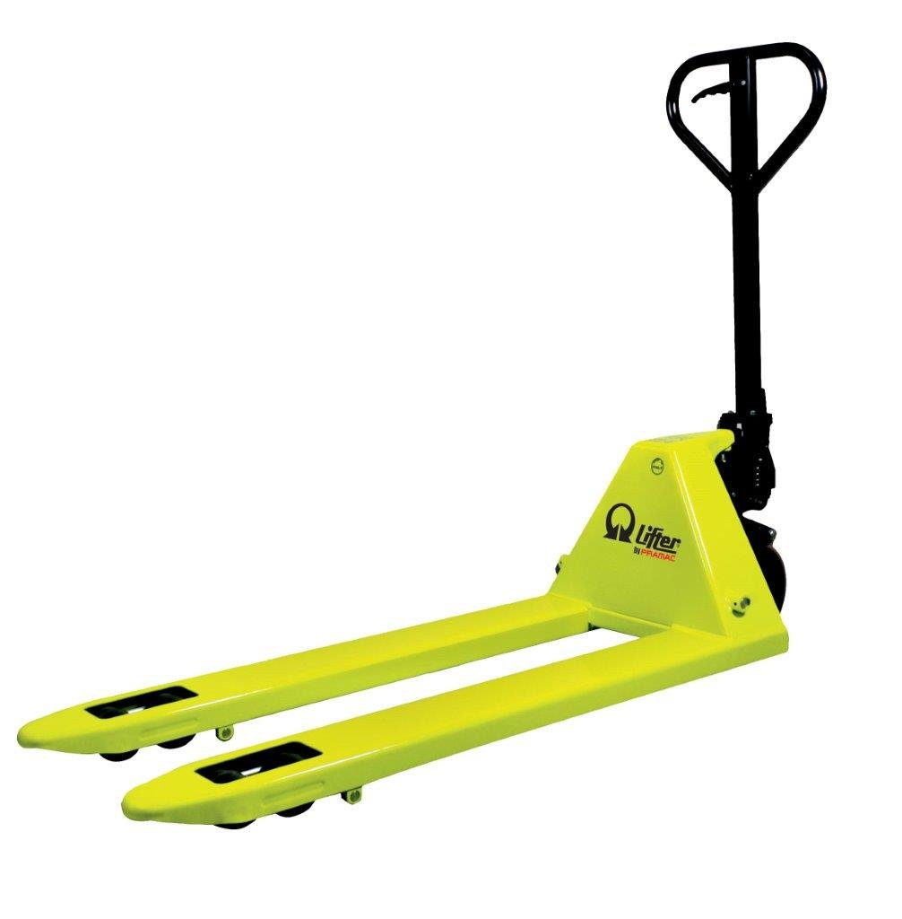 handpallet truck Basic 2,2t (nylon-poly/nylon single) 1150 X 525 yellow
