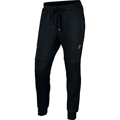 Nike Mens Tech Fleece Pants (X-Large) Black Metallic Gold at Amazon Men s  Clothing store  a348c60a26c7