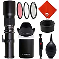 Opteka 500mm/1000mm f/8 Manual Telephoto Lens for Nikon 1 J5, J4, J3, J2, S2, S1, V3, V2, V1 and AW1 Mirrorless Digital Cameras