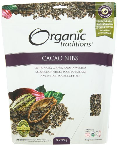 Organic Traditions Organic Nibs, Cacao, 16 Ounce by Organic Traditions