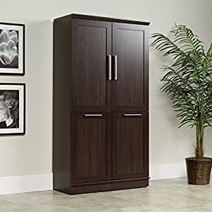 Amazon Com Sauder Homeplus Storage Cabinet In Dakota Oak