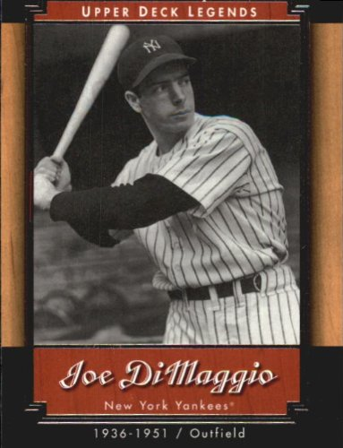 2001 Upper Deck Legends Baseball Card #40 Joe DiMaggio ()