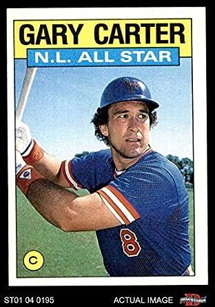 Amazoncom 1986 Topps 708 All Star Gary Carter New York