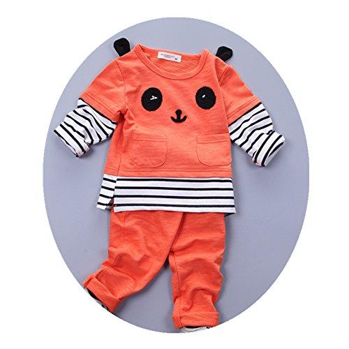 FTSUCQ Unisex Baby Tank Top Shirt with Pants Three-pieces Sets,Orange 90 (Banks Plaid Shirt)