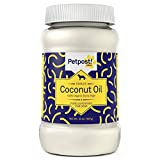 Petpost | Coconut Oil for Dogs - Certified Organic Extra Virgin Superfood for Skin & Coat Hot Spots and Itch - 32 Oz.