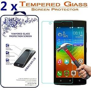 [2-Pack] Lenovo A2010 Tempered Glass, Nacodex Premium Tempered Glass Screen Protector For Lenovo A2010 , 2.5D Round Edge 9H Hardness Bubble Free