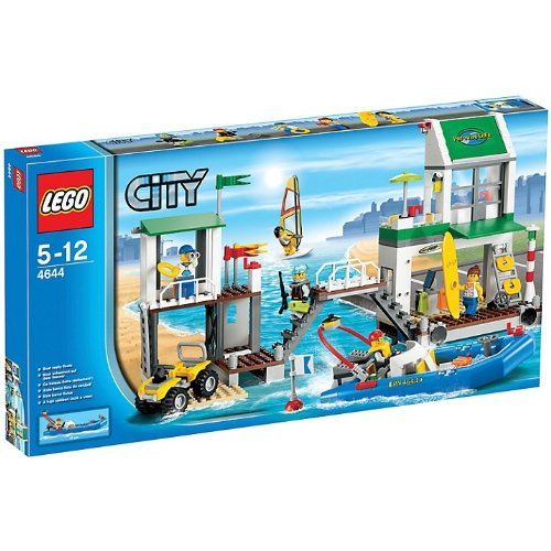 Lego 4644 City Marina Harbour Beach Sea Life Guard Lookout Tower Boat New 5-12 Good Quality Fast Shipping Ship Worldwide From Hengheng - Shipping City Beach