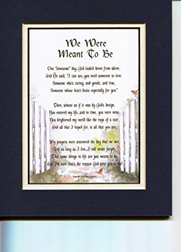 A Poem Present For a Wife or Husband (navy over white) #214
