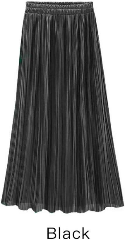 DAHDXD Primavera Verano Falda Plisada para Mujer Vintage de ...