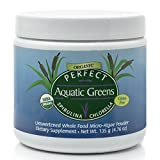 freeze dried greens powder - Perfect Organic Aquatic Greens ~Unsweetened~ Spirulina and Chlorella Freeze-Dried Powder, 135 grams ~by Perfect Supplements
