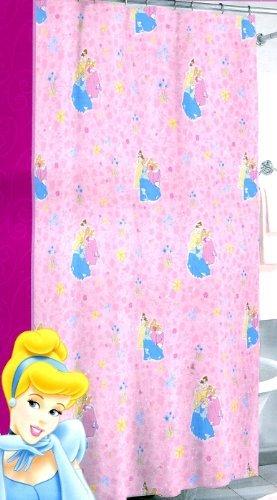 Disney Princess Vinyl Shower Curtain (70 in x 72 in): Cin...