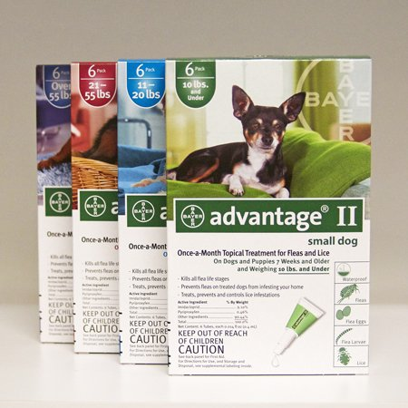 Advantage Pet Care Flea Control for Dogs and Puppies Under 10 Lbs 4 Pack