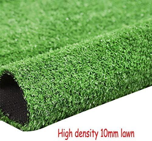 XEWNEG 10MM高密度ガーデン人工ターフグリーン多機能フェイク芝生ペットマット、屋根の市壁の装飾の装飾のために、幅2メートル (Size : 2×12M)