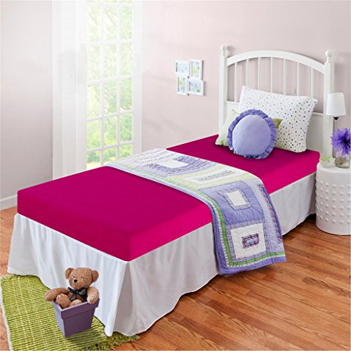 Zinus Memory Foam 5 Inch Bunk Bed / Trundle Bed / Day Bed / Twin Mattress, Pink