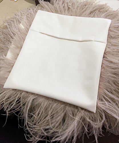 Ysting Reale struzzo pelliccia borsa borsa spalla delle donne Borsa