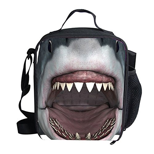 Mumeson Shark Printed Kids Insulted Thermal Lunch Bags Reusable Lunchbox Tote for Kids Women Men Adults