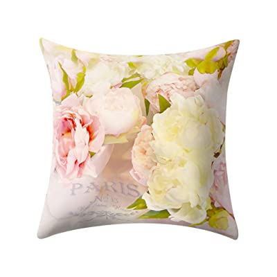 Ywoow Plant Printed Polyester Pillow Case Cover Sofa Cushion Cover Home Decor, Fashion Sofa Cushion Cover: Sports & Outdoors