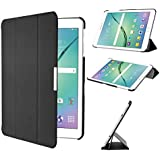 Galaxy Tab S2 8.0 Case, IVSO® Samsung Galaxy Tab S2 8.0 Case - Ultra Lightweight Slim Smart Cover Case-(Lifetime warranty)-Will only fit Samsung Tab S2 8.0 Tablet (Black)