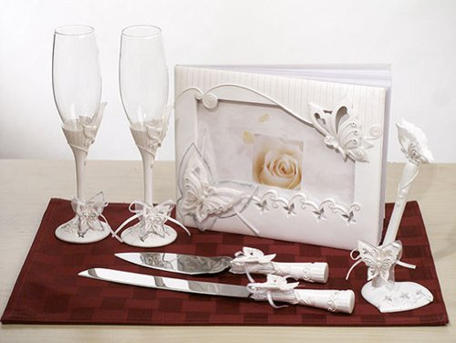 Butterfly Theme Bridal Accessories Set by Cassiani